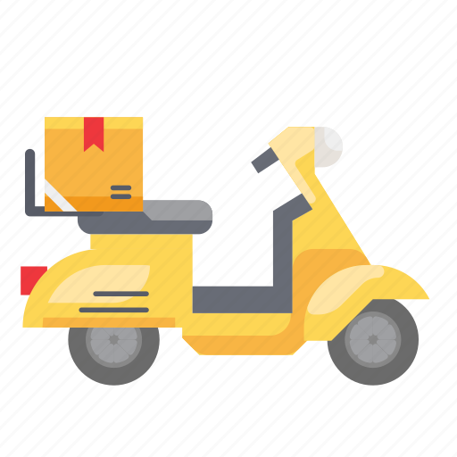 courier, delivery, motocycle, scoopy, scooter, shipment icon