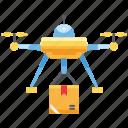delivery, drone, e-commerce, flight, shipment, transport
