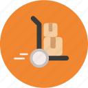 cart, delivery, dolly, ecommerce, freight, package, shipping, trolley icon
