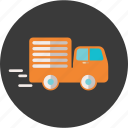 commercial, delivery, ecommerce, service, transportation, truck icon
