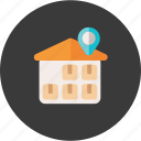 cargo, distribution, location, logistic, shipping, storage, warehouse icon