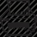 ink, ink jet, laser, paper, print, printer icon