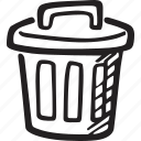 bin, delete, dust bin, ecommerce, remove, trash, trash can icon