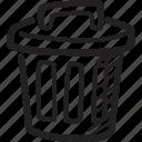 bin, delete, dust bin, ecommerce, remove, trash, trash can