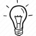 bulb, electricity, idea, light, light bulb, lightbulb, tip icon