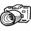 camera, lens, photo, photograph, photographic equipment icon