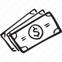 bills, ecommerce, money, payment, shopping icon