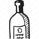 alcohol, beverage, bottle, cork, wine icon