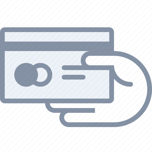card, ecommerce, hand, money, payment, shopping icon