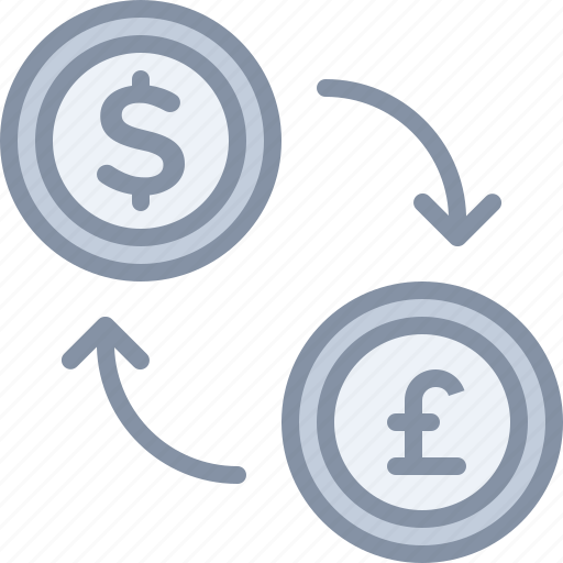 change, currency, dollar, ecommerce, exchange, pound, shopping icon