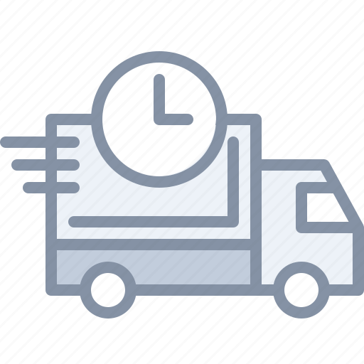 delivery, ecommerce, shopping, time, transport icon