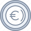 currency, ecommerce, euro, exchange, money, shopping icon
