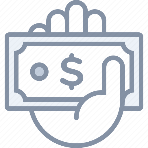 cash, ecommerce, hand, money, payment, shopping, store icon