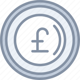 currency, ecommerce, exchange, money, pound, shopping icon