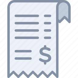 bill, ecommerce, money, order, payment, receipt, shopping icon