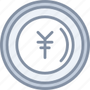 currency, ecommerce, exchange, money, shopping, yen icon