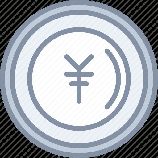 currency, ecommerce, exchange, money, shopping, yen icon