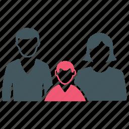 baby, couple, family, son icon