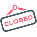 closed, shop, store icon