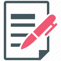 contract, document, pen, sign icon