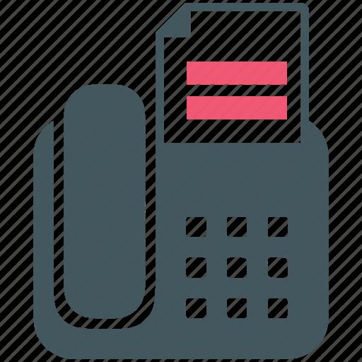 fax machine, office, phone icon