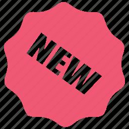 badge, label, new, sticker icon