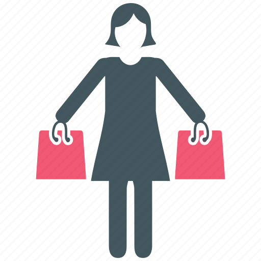 bags, female, shopping icon