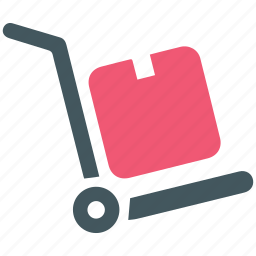 delivery, hand truck, shipping, truck icon