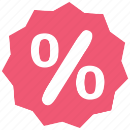 badge, business, percent, percentage, sale, shopping icon
