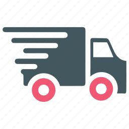delivery, fast, logistics, running, shipping, truck, vehicle icon