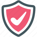 on, protection, security, shield icon