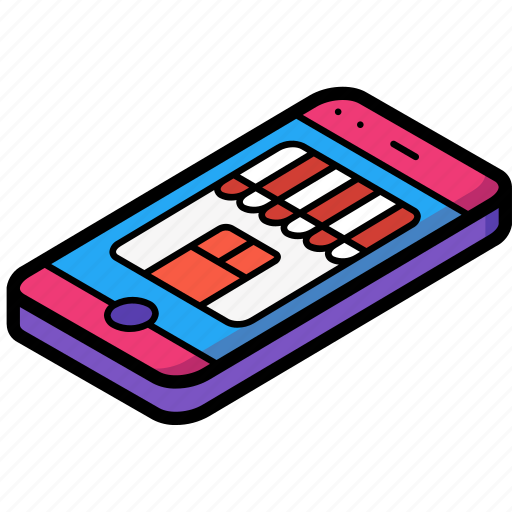 commerce, mobile, sales, shopping, store icon