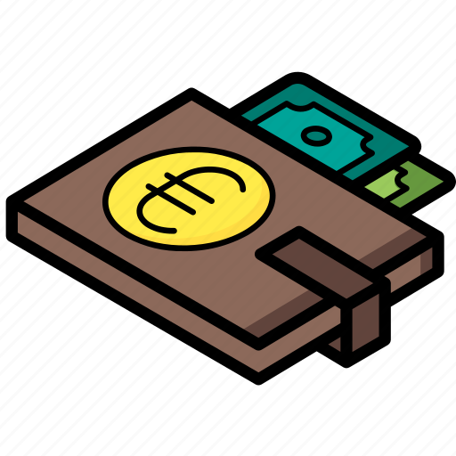 commerce, euro, sales, shopping, wallet icon