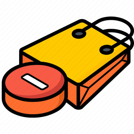 bag, commerce, remove, sales, shopping icon