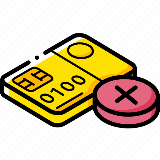 card, commerce, rejected, sales, shopping icon