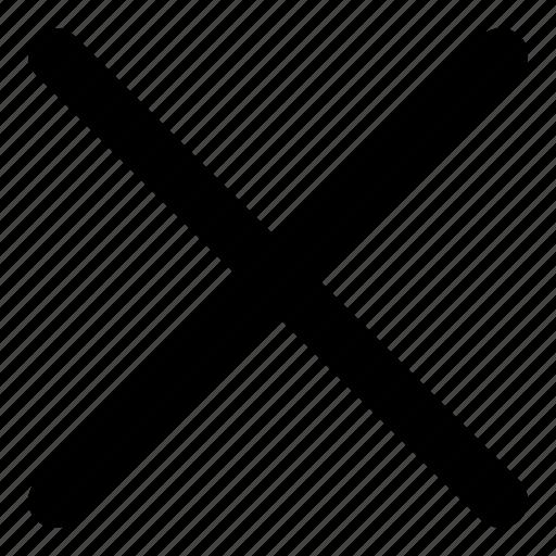 Cancel, close, cross, delete, exit, remove icon - Download on Iconfinder