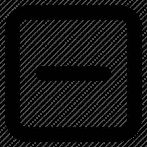 Decrease, delete, minus, remove, subtract icon - Download on Iconfinder