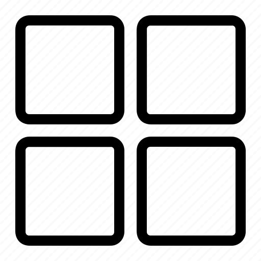 grid, layout, page, view icon