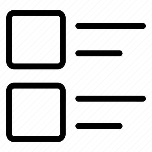 checklist, details, list, menu, view icon
