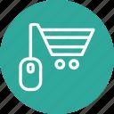 ecommerce, mouse, shop, shopping