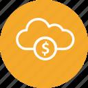 cloud, coin, finance, money