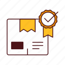 box, check, guarantee, insured, package, product, quality, safe, seal icon