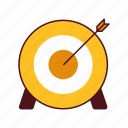 arrow, bullseye, competition, focus, goal, objective, strategy, success, target, targeting icon