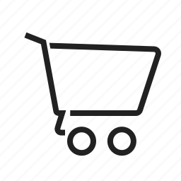 carrier, cart, ecommerce, empty cart, shopping, shopping cart, trolley icon