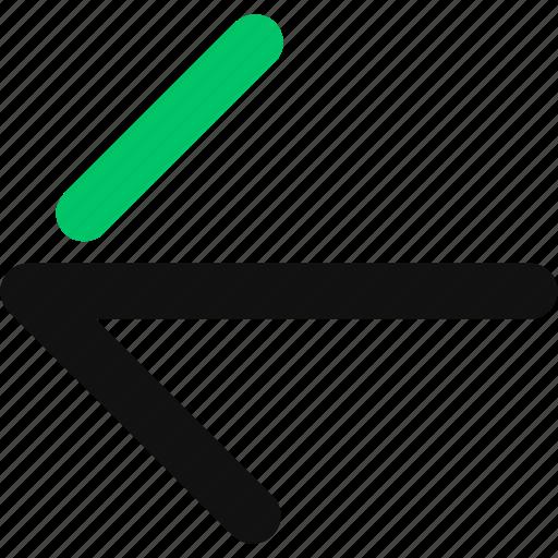 arrow, back, left, left arrow, return icon