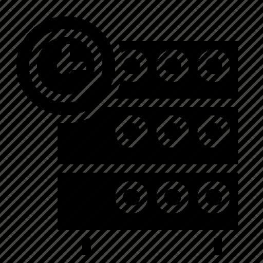 clock, databse, hosting, rack, reminder, server, timestamp icon
