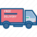 delivery, free, product, shipping, transaportation, van, vehicle icon