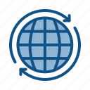earth, market, online, planet, search, secure, web icon