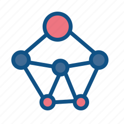 connection, media, network, nodes, sharing, social icon