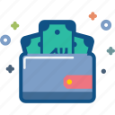 dollar, ecommerce, money, pocket, purse, storage, wallet icon